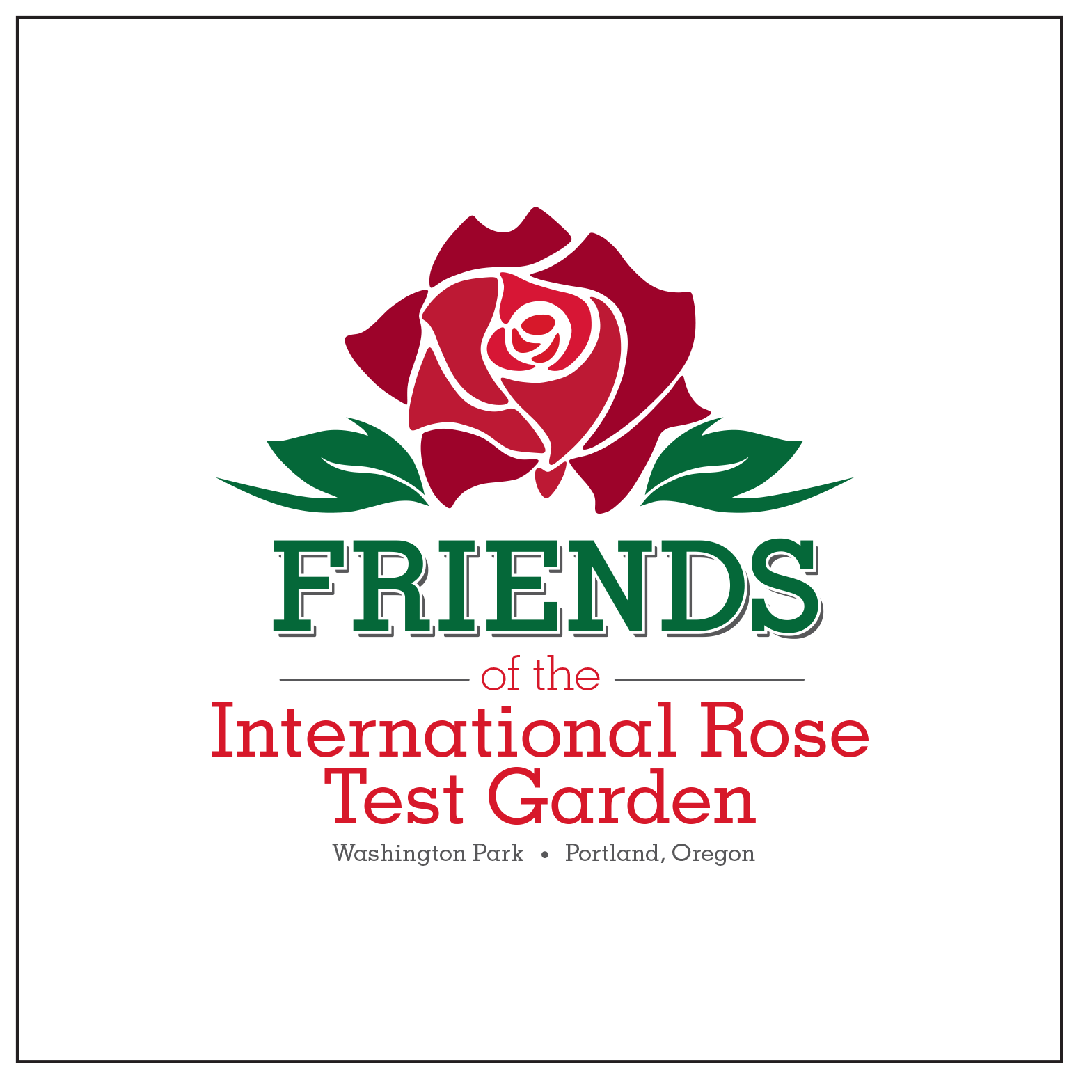 Logo of Friends of International Rose Test Garden