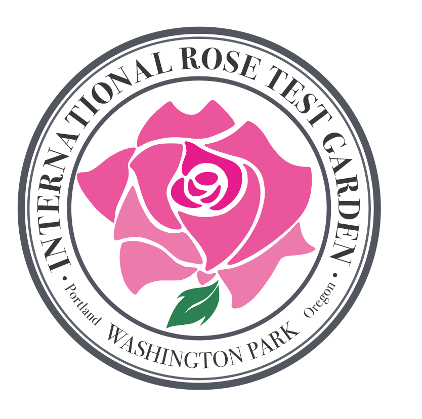Centennial Logo for the International Rose Test Garden, Portland, Oregon